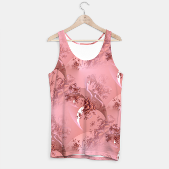Romantic rose tree fractals pattern Tank Top thumbnail image