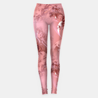 Romantic rose tree fractals pattern Leggings thumbnail image