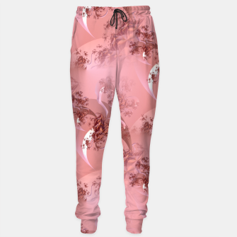 Romantic rose tree fractals pattern Sweatpants thumbnail image