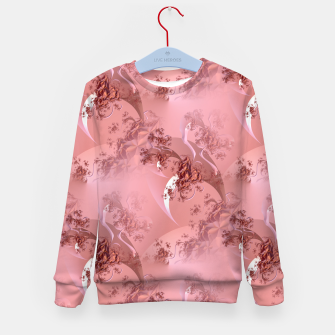 Romantic rose tree fractals pattern Kid's Sweater thumbnail image
