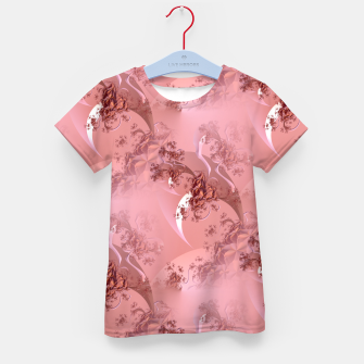 Romantic rose tree fractals pattern Kid's T-shirt thumbnail image