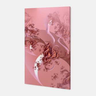 Romantic rose tree fractals pattern Canvas thumbnail image