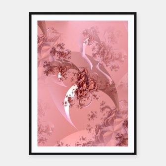 Thumbnail image of Romantic rose tree fractals pattern Framed poster, Live Heroes