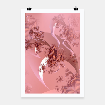 Thumbnail image of Romantic rose tree fractals pattern Poster, Live Heroes