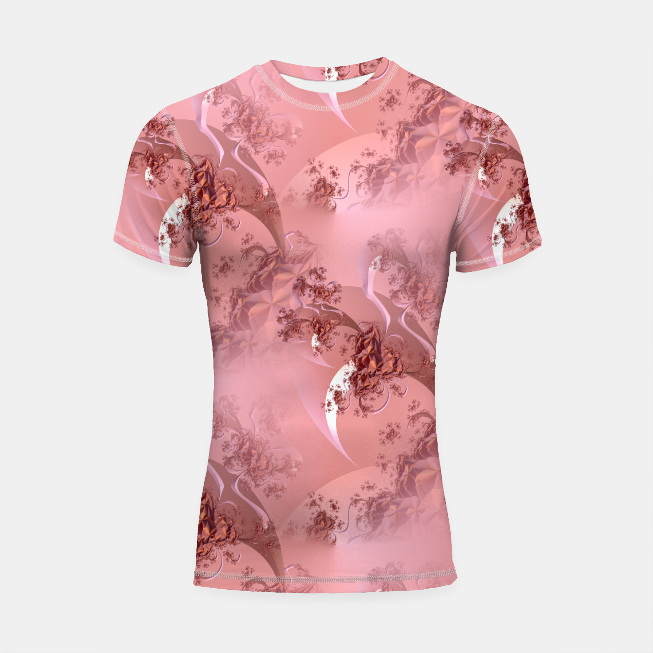 Image of Romantic rose tree fractals pattern Shortsleeve Rashguard - Live Heroes