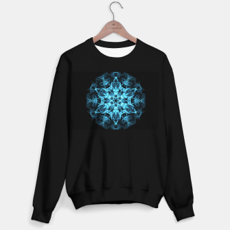 Thumbnail image of Electric cosmic storm as a snowflake star mandala with aliens Sweater regular, Live Heroes
