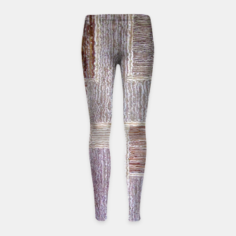 Thumbnail image of 3D Leather textile Girl's Leggings, Live Heroes