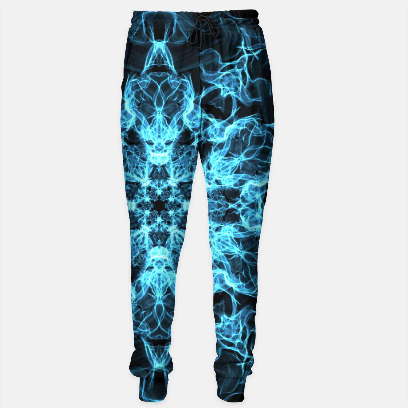 Image of Electric cosmic storm as a snowflake star mandala with aliens Sweatpants - Live Heroes