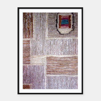 Thumbnail image of 3D Leather textile Framed poster, Live Heroes