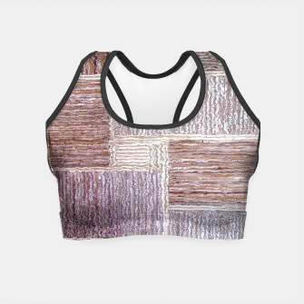 Thumbnail image of 3D Leather textile Crop Top, Live Heroes