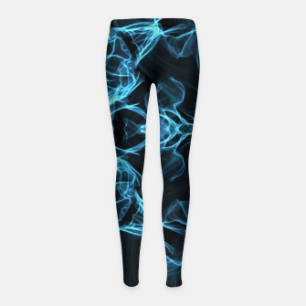 Thumbnail image of Electric cosmic storm as a snowflake star mandala with aliens Girl's Leggings, Live Heroes