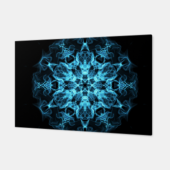 Thumbnail image of Electric cosmic storm as a snowflake star mandala with aliens Canvas, Live Heroes