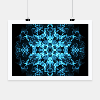 Electric cosmic storm as a snowflake star mandala with aliens Poster thumbnail image
