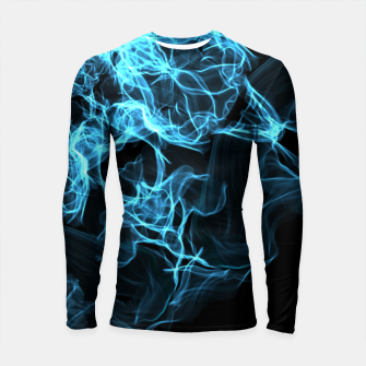 Electric cosmic storm as a snowflake star mandala with aliens Longsleeve Rashguard  thumbnail image