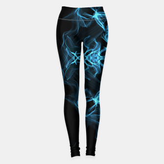 Thumbnail image of Electric cosmic storm as a snowflake star mandala with aliens Leggings, Live Heroes