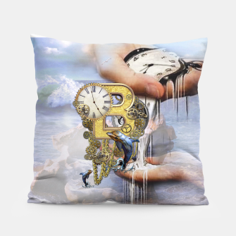 Steampunk Birthday letter B Pillow thumbnail image