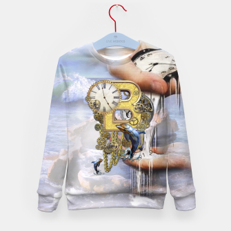 Thumbnail image of Steampunk Birthday letter B Kid's Sweater, Live Heroes