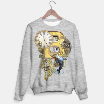 Thumbnail image of Steampunk Birthday letter B Sweater regular, Live Heroes