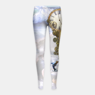 Thumbnail image of Steampunk Birthday letter B Girl's Leggings, Live Heroes