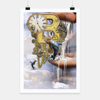 Thumbnail image of Steampunk Birthday letter B Poster, Live Heroes