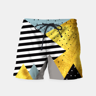 Miniaturka Fall Abstraction Green Swim Shorts, Live Heroes