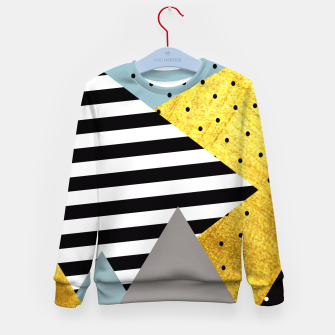 Thumbnail image of Fall Abstraction Green Kid's Sweater, Live Heroes