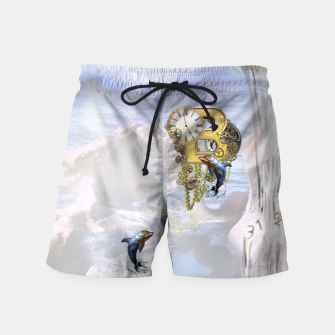 Thumbnail image of Steampunk Birthday letter B T-shirt  Swim Shorts, Live Heroes