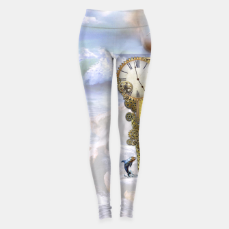 Thumbnail image of Steampunk Birthday letter B Leggings, Live Heroes