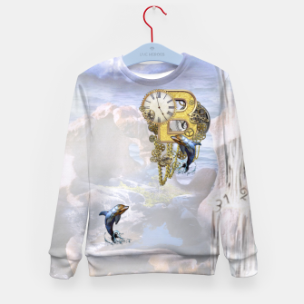 Thumbnail image of Steampunk Birthday letter B T-shirt  Kid's Sweater, Live Heroes