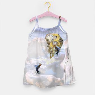 Thumbnail image of Steampunk Birthday letter B T-shirt  Girl's Dress, Live Heroes