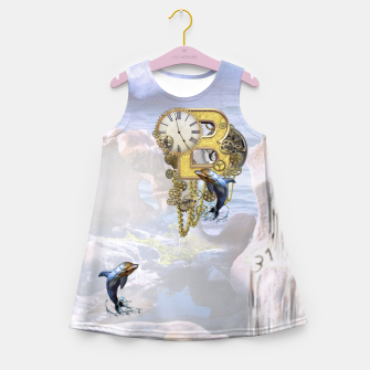 Thumbnail image of Steampunk Birthday letter B T-shirt  Girl's Summer Dress, Live Heroes