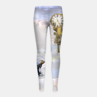 Thumbnail image of Steampunk Birthday letter B T-shirt  Girl's Leggings, Live Heroes