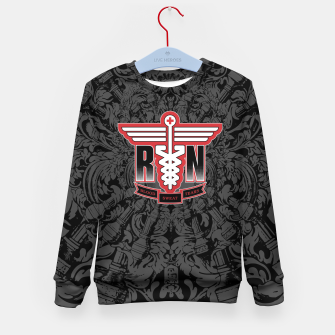 Thumbnail image of Registered Nurse Kid's Sweater, Live Heroes