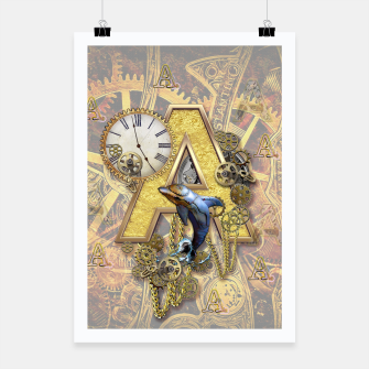 Thumbnail image of Steampunk-birthday letter A  Poster, Live Heroes