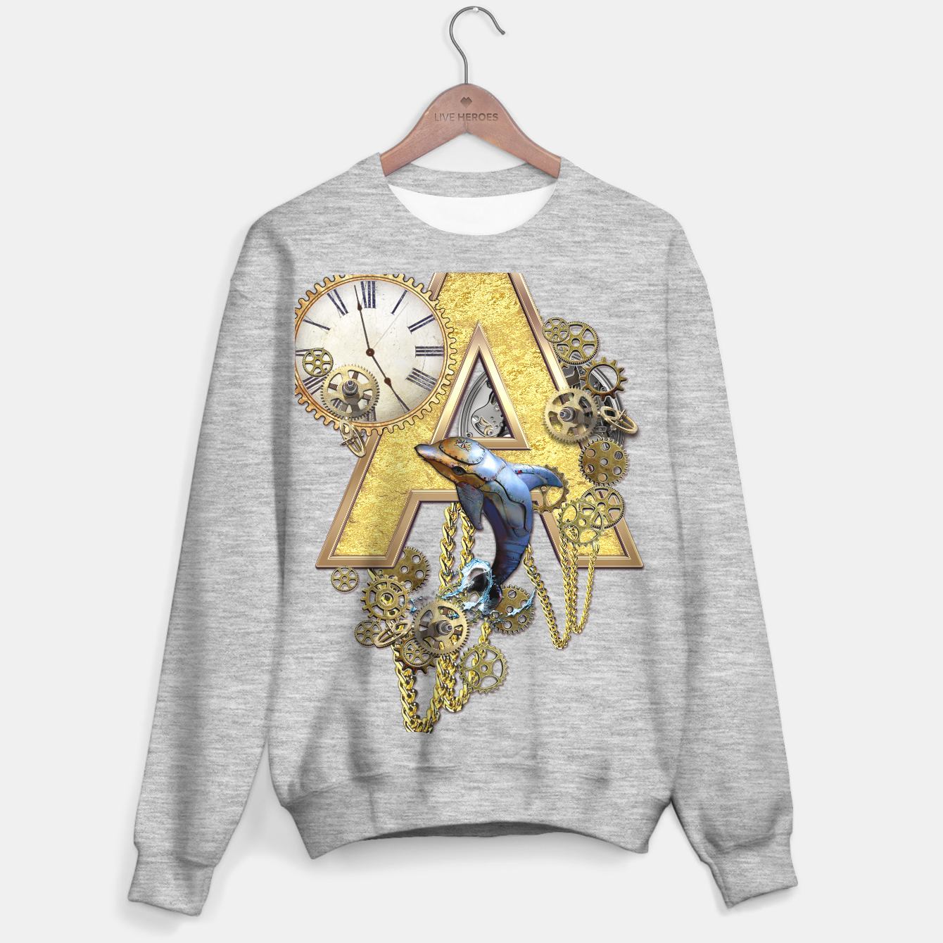 Image of Steampunk birthday letter A  Sweater regular - Live Heroes