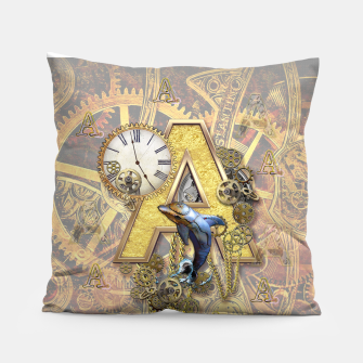 Thumbnail image of Steampunk-birthday letter A  Pillow, Live Heroes