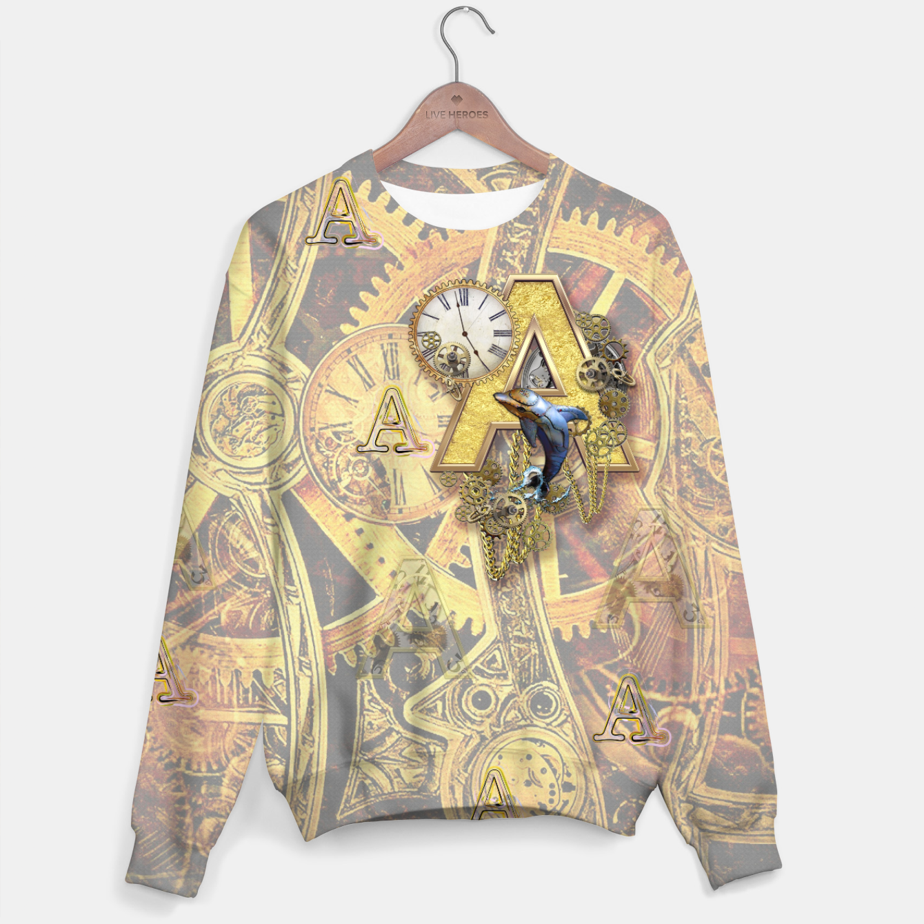 Image of Steampunk birthday letter A Sweater - Live Heroes