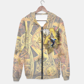 Thumbnail image of Steampunk birthday letter A Hoodie, Live Heroes