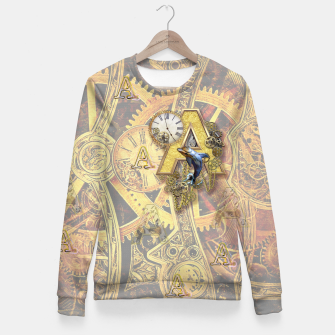 Thumbnail image of Steampunk birthday letter A Fitted Waist Sweater, Live Heroes