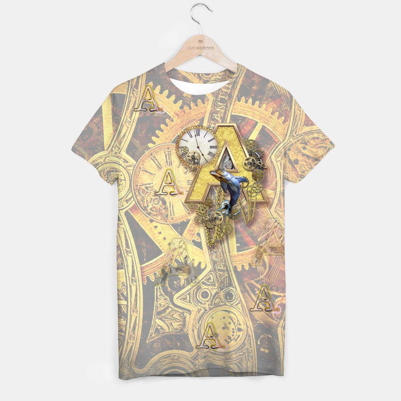 Image of Steampunk birthday letter A T-shirt - Live Heroes