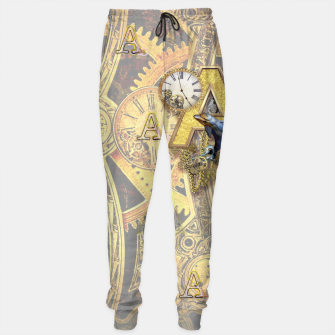 Thumbnail image of Steampunk birthday letter A Sweatpants, Live Heroes