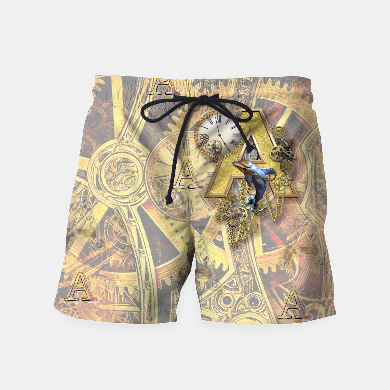 Image of Steampunk birthday letter A Swim Shorts - Live Heroes