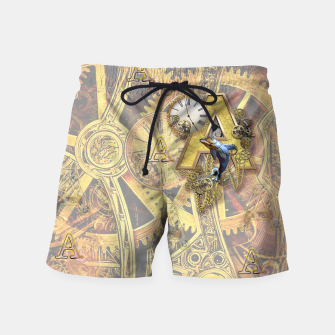 Steampunk birthday letter A Swim Shorts thumbnail image
