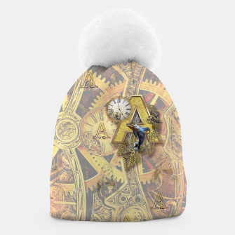 Thumbnail image of Steampunk birthday letter A Beanie, Live Heroes