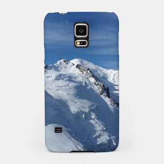 Awesome white snowy Mont Blanc Alps mountains in Italy, France, Europe on a beautiful winter day Samsung Case Bild der Miniatur