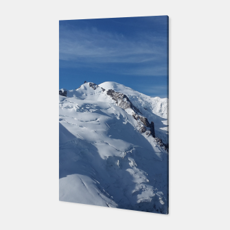 Miniaturka Awesome white snowy Mont Blanc Alps mountains in Italy, France, Europe on a beautiful winter day Canvas, Live Heroes