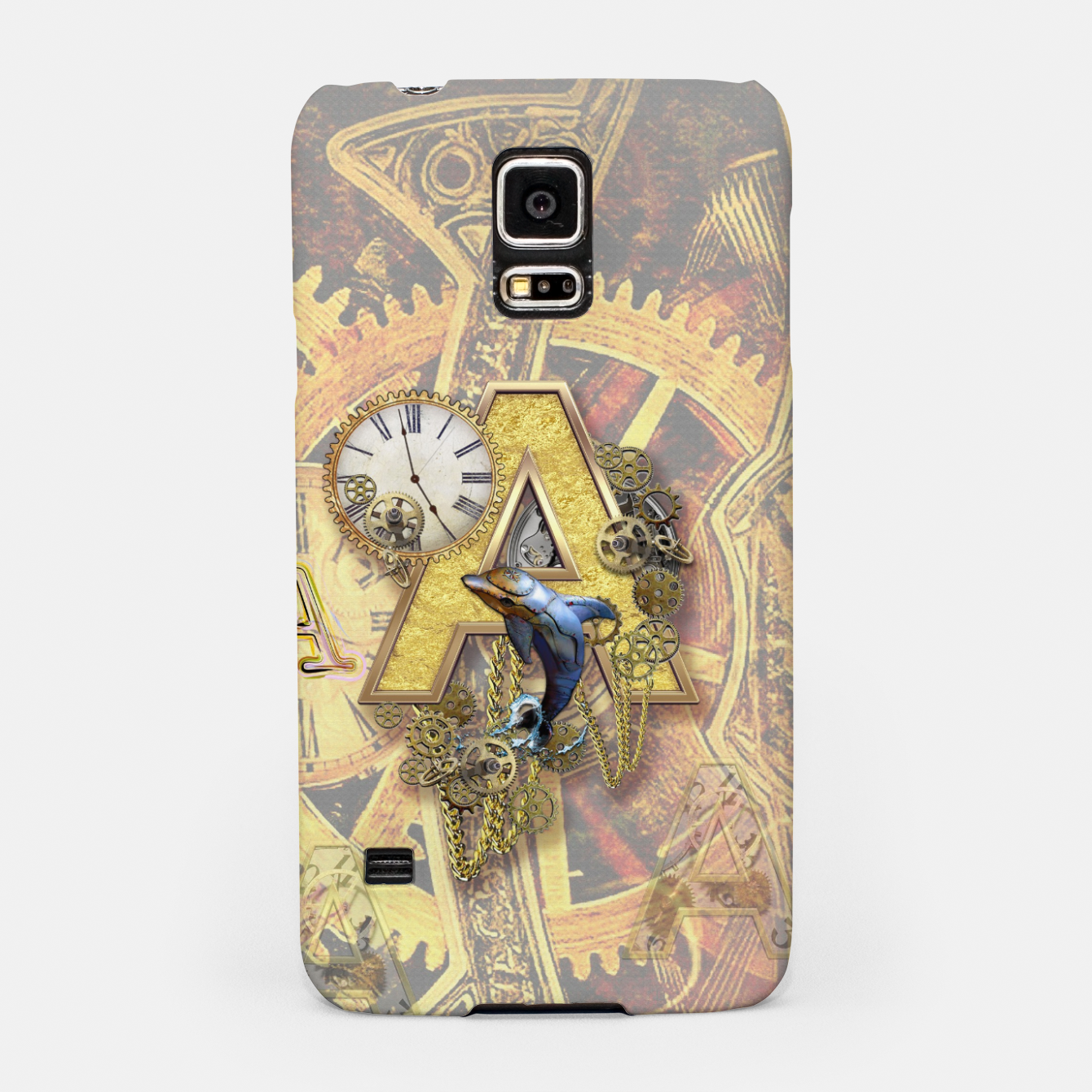 Image of Steampunk birthday letter A Samsung Case - Live Heroes