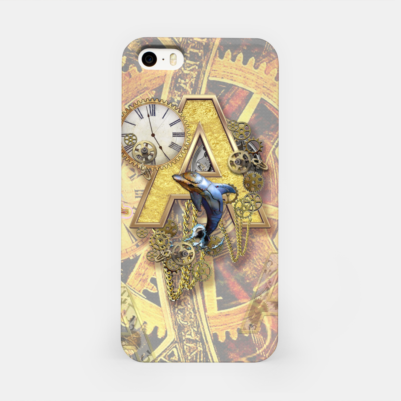 Image of Steampunk birthday letter A iPhone Case - Live Heroes