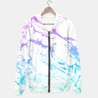Thumbnail image of White marble Purple blue ombre watercolor mermaid Hoodie, Live Heroes