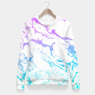 Thumbnail image of White marble Purple blue ombre watercolor mermaid Fitted Waist Sweater, Live Heroes